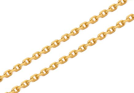 Gold cable chain 2 mm