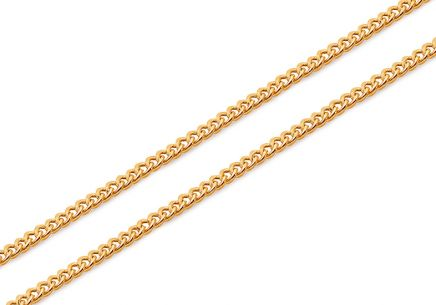 Gold curb chain 1.4 mm