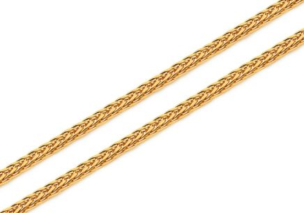 Gold Fox chain - 2 mm fox tail