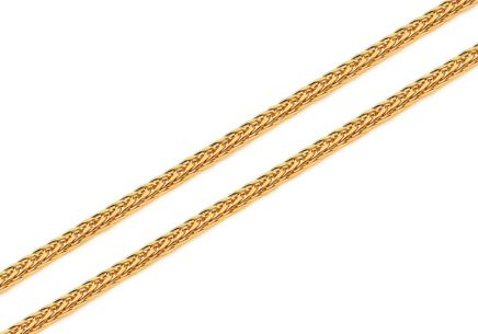 Gold Fox tail chain - 1,5 mm