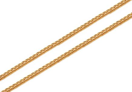 Gold chain Fox - fox tail 1 mm