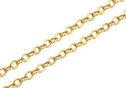Gold chain Rolo 1.5 mm