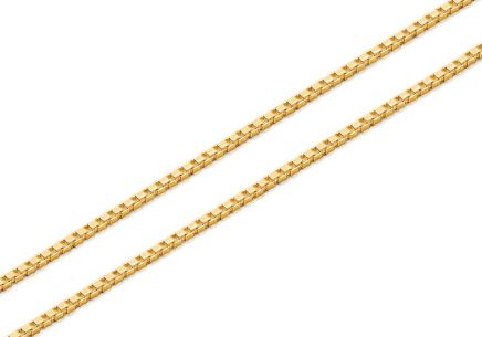 Gold cube chain - 0.7 mm Cube