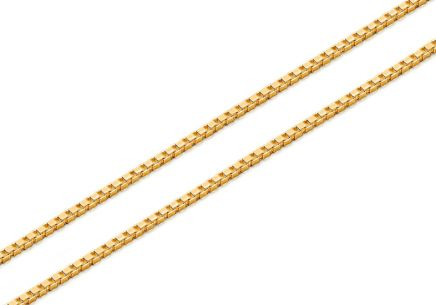 Gold cube chain - 0.8 mm Cube