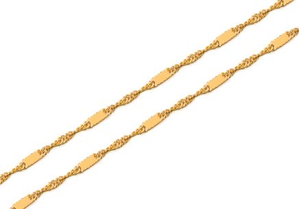 Gold chain Singapore with 1.5 mm plates