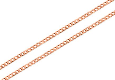 Rose Gold Curb Chain 1 mm