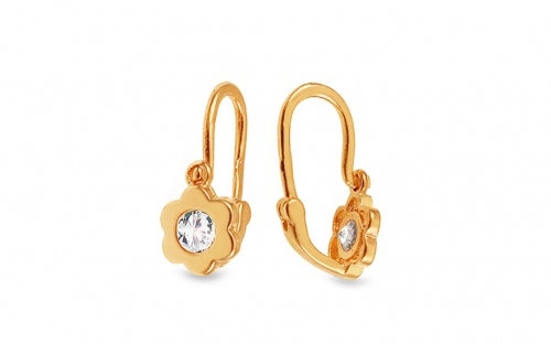 Children's Cubic Zirconia Earrings - 1-236-0425Z