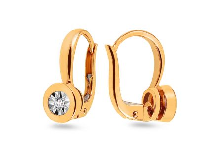 Gold Diamond Earrings 0.030 ct