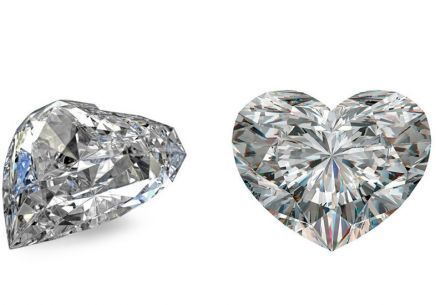 VS1 E 0.51 ct diamond GIA certified Heart cut