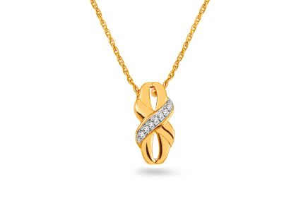 Gold Brilliant Cut Accent Necklace