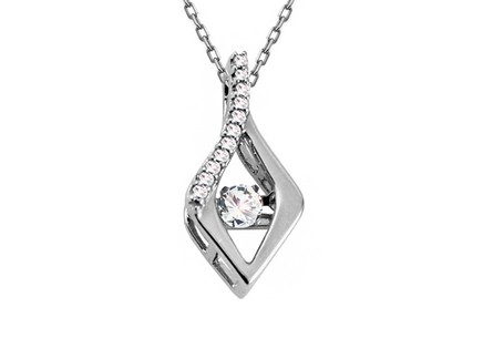 Dancing Diamond Collection Gold Diamond Pendant