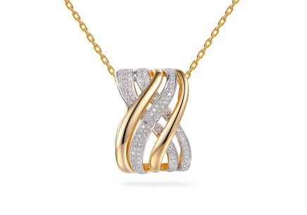 Gold briliant pendant 0.220 ct