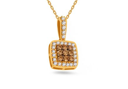 Gold pendant with diamonds