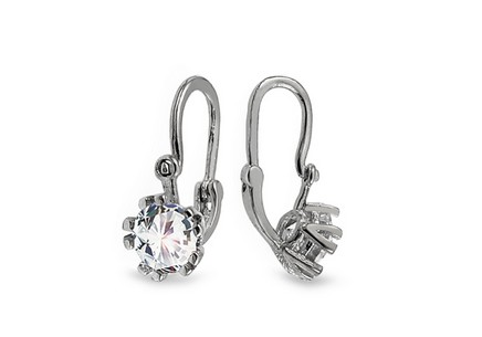 White gold baby zirconia earrings
