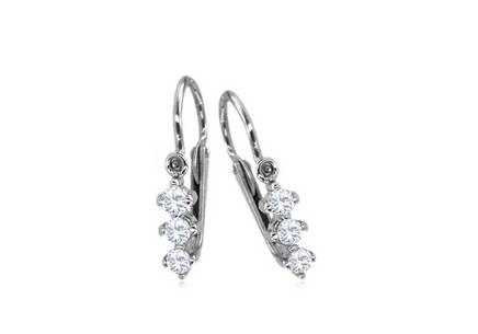 Girl's Cubic Zirconia Earrings