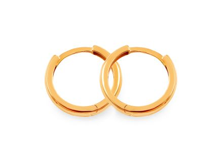 Gold childrens smooth hoop earrings