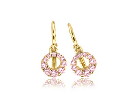 Gold Earrings for Christening Occasion