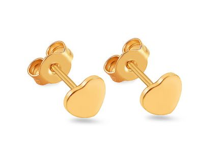 Gold Girls Earrings HEART