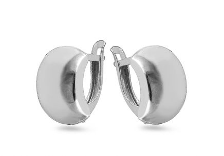 Rhodium plated 925Sterling Silver earrings
