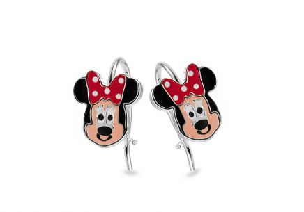 Silver stud earrings Minnie Mouse