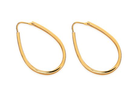 Gold Oval Earrings