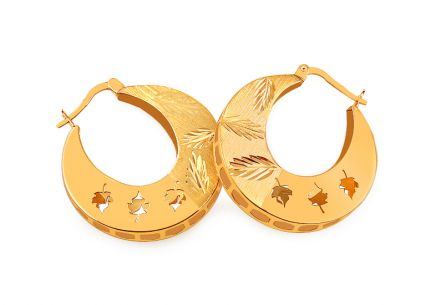 Unusual gold earrings