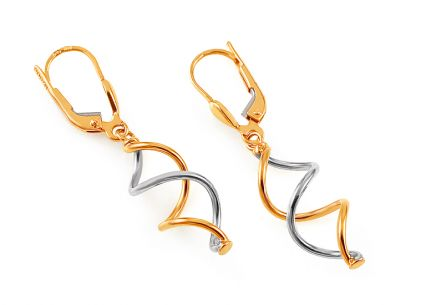 Gold combined earrings Venita
