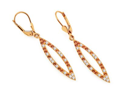 Women's Gold Cubic Zirconia Earrings