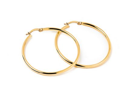 3.5cm/1.4'' Gold Hoop Earrings