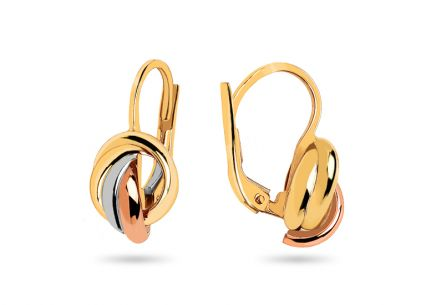 Gold Tri Coloured Earrings
