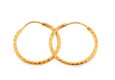 Gold loop earrings 2.5 cm