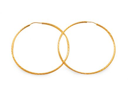 Gold hoop earrings 4.5 cm
