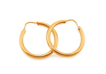 Gold Earrings Rings 2 cm