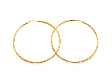 Gold hoop earrings 3.8 cm