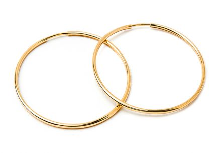 Gold hoop earrings 5,5 cm