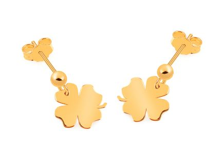 Gold Four-leaf Clover Celebrity Earrings