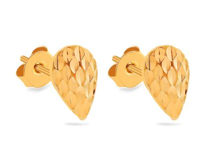 Elegant Gold Drop stud earrings