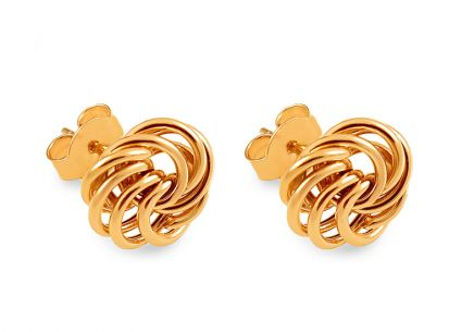 Gold knots stud earrings