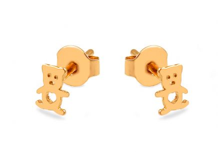Gold bears stud earrings