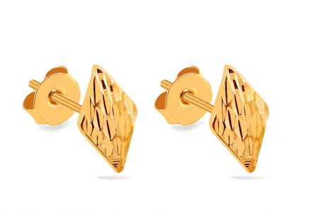 Gold Rhombus Earrings