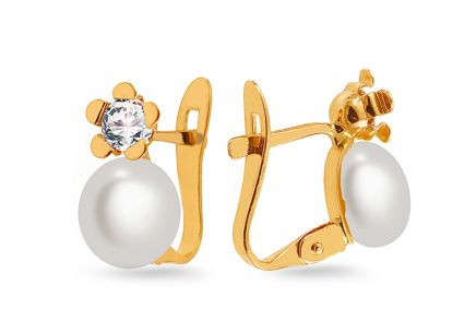 Pearl earrings Vaiva