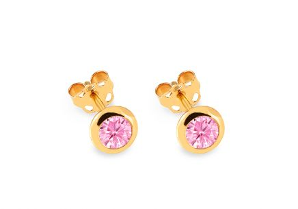 Gold Swarovski Zirconia Earrings