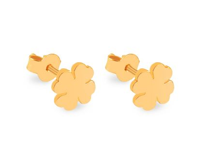 Gold plated 925silver flower earrings