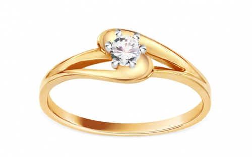 Engagement Ring with Zircon Pretty - CSRI1343