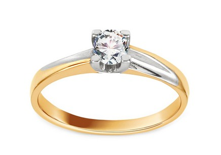 Combined Engagement Ring with Zircon Grace 4