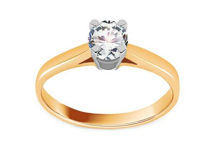 Engagement Ring from Combined Gold with zircon Ebba