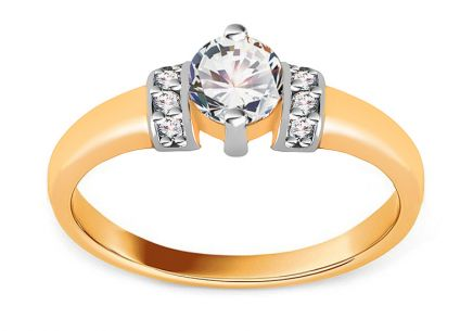 Gold Engagement Ring Isarel 10