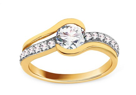 Gold Engagement Ring Isarel 24