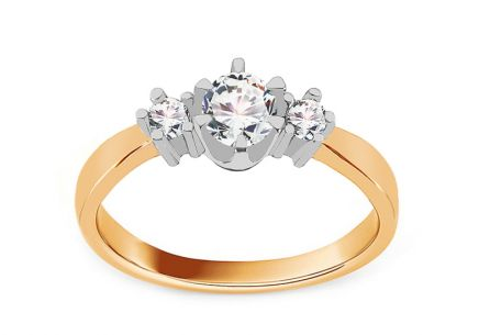 Gold Engagement Ring Princess 8