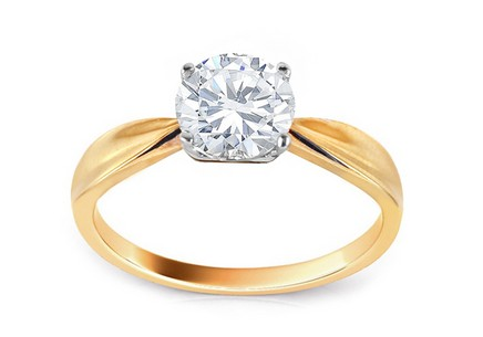 Gold Engagement Ring with Zircon Fantine